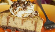 Pumpkin Cheesecake Recipe, like this one cause it is a scratch made crust. IT WAS AMAZING!( and honestly I am not a huge fan of cheesecake. Pumpkin Cheesecake Recipes, Pumpkin Recipes, Cheesecake Bites, Fun Desserts, Dessert Recipes, Desserts Caramel, Food Deserts, Yummy Treats, Sweet Treats