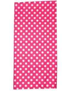 Putkihuivi, Pinkki, valkoiset pallot - Leatherheaven.com verkkokaupasta