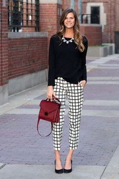 CHECK PRINTS : ALWAYS GIVE THE PERFECT FEEL OF BUSINESS ATTIRES ||| 45 High-Toned Work Outfits to Wear This Winter | Work Outfits to Wear this Winter | Winter Work Outfits | Fenzyme.com