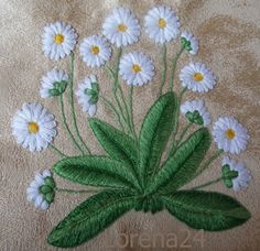 Bullion Embroidery, Mexican Embroidery, Embroidery Flowers Pattern, Embroidery Bags, Simple Embroidery, Hand Embroidery Stitches, Free Machine Embroidery Designs, Floral Embroidery, Bordados E Cia