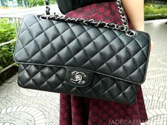 A Peek At My Style: Chanel 2.55 Medium Classic Flap in Black Caviar with Silver Hardware