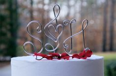Etsy.com, Cake Toppers, Wedding Accessories, Cake Accessories, Cake Embellishments, Wedding Cakes, Monogram Cake Topper