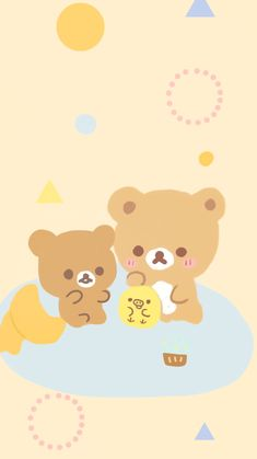 Rilakkuma Wallpaper, Sanrio Wallpaper, Bear Wallpaper, Kawaii Wallpaper, Iphone Wallpaper, Polymer Clay Kawaii, Polymer Clay Animals, Polymer Clay Miniatures, Anime Couples