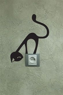Sticker Gato Negro