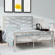 You can buy discount Castile Platform Bed by Zipcode Design Metal Platform Bed, Queen Platform Bed, Upholstered Platform Bed, Steel Bed Design, Steel Bed Frame, Beds Online, Bed Reviews, Headboard And Footboard, Panel Bed