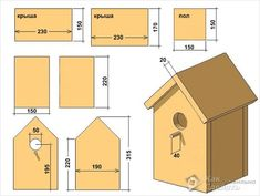 Bird House Plans 525232375292086516 - Med ett sadeltak ritning Source by irfangyorg Bird House Plans Free, Bird House Kits, Homemade Bird Houses, Bird Houses Diy, Woodworking Projects Diy, Woodworking Plans, Wood Projects, Happy Bird Day, Bluebird House