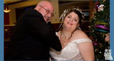 """""""This is a photo of my dad and I. He was trying to push me back into my wedding dress, because being in a big Italian family, cleavage is not acceptable! Wedding Fail, Funny Wedding Photos, Daddys Girl, S Girls, Awkward, Fails, Groom, Bride, Wedding Dresses"""