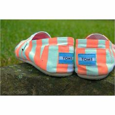 Coral and turquoise TOMS!