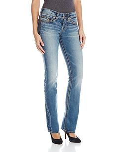 Silver Jeans Womens Suki Mid Slim Bootcut Jean Indigo 31 -- Check out this great product.(This is an Amazon affiliate link and I receive a commission for the sales)
