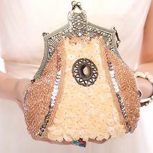 2015 nuevas mujeres Vintage bordado con cuentas exquisito bolsos de tarde del bolso de embrague Noble fiesta Retro hombro messenger Bag(China (Mainland))