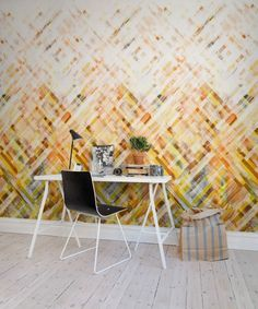 Hey, look at this wallpaper from Rebel Walls, Dream Weaver, yellow! #rebelwalls #wallpaper #wallmurals