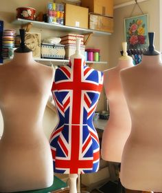 Another posse of mannequins due for dispatch tomorrow. Three to France and the union jack mannequin to London.