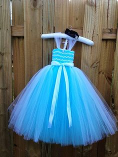 Cinderella Disney Princess Inspired Blue Tutu Dress Costume