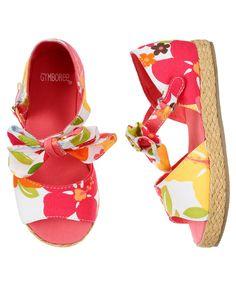 Gymboree Girl Aloha Sunshine Bow Floral Espadrille