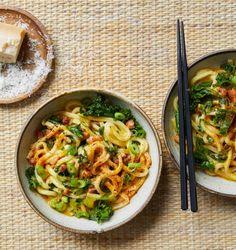 Udon carbonara and miso tarte tatin: Ravinder Bhogal's miso recipes | Food | The Guardian