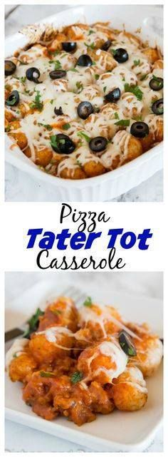 Pizza Tater Tot Cass Pizza Tater Tot Casserole  the classic...  Pizza Tater Tot Cass Pizza Tater Tot Casserole  the classic tater tot casserole you grew up with gets a makeover! A fun and easy casserole recipe that has all the flavors of your favorite pizza. Recipe : http://ift.tt/1hGiZgA And @ItsNutella  http://ift.tt/2v8iUYW