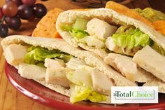 Total Choice Grilled Chicken Pita Pocket Sandwich : This lunch option has all of the flavors of a Mediterranean-inspired dish and is easy on the eyes, taste buds and waistline. Eat...