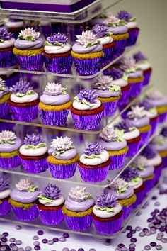 purple cupcakes, just add some green and gold and voila!! MARDI GRAS!!