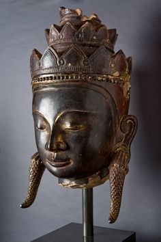 """A disciplined mind brings happiness.""  ~The Buddha    (Buddha Head, Burma 17th - 18th Century) ..*"
