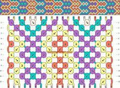Normal Friendship Bracelet Pattern #10388 - BraceletBook.com