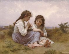 off Hand made oil painting reproduction of A Childhood Idyll, one of the most famous paintings by William-Adolphe Bouguereau. William-Adolphe Bouguereau concluded the captivating oil painting entitled A Childhood Idyll in William Adolphe Bouguereau, Jean Leon, Munier, Monalisa, Painting Prints, Art Prints, Oil Paintings, Painting Portraits, Painting Wallpaper
