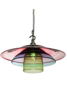 """Hand Blown Glass Dine Light -- The Dine Light features three separately free-blown parts, the outer Plate, Saucer and the inner Cup. Every Dine Light is bespoke and individually free-blown to order."" I love the way the colors combine where they overlap..."