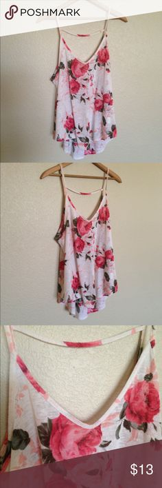 LUSH tank floral Beautiful tank from LUSH. Flowy, floral, and fun. Great condition! Only worn a few times. Size XL. Will fit size L-XL. Lush Tops Tank Tops