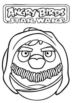 Free Printable Angry Birds Star Wars Yado Coloring Pages For Kidsfree Print Out Cartoon Games Worksheet Preschool