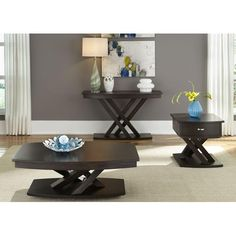 Liberty Furniture Southpark 3 Piece Cocktail and End Table Set