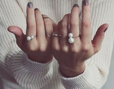 DIY: twin pearl ring.  Rings bought on Asos, Pearls in Smyk på Østerbro.