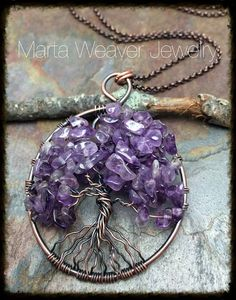 Wire Wrapped Tree of Life Pendant Necklace by MartaWeaverJewelry