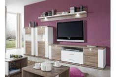 Obývačka Manhattan Biela arctic  / Dub pílený truffel Arctic, Manhattan, Flat Screen, Furniture, Home Decor, Blood Plasma, Decoration Home, Room Decor, Flatscreen