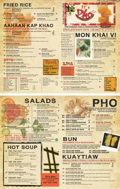 Vietnamese Restaurant To Go Menu Design and Printing. www.inprintla.net