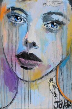 """Saatchi Online Artist Loui Jover; Painting, """"leda (canvas)"""" #art"""