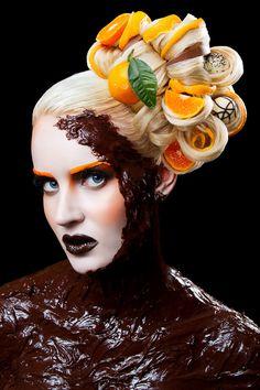Food Inspired Make-up & Hair Designs by Karla Powell, via Behance