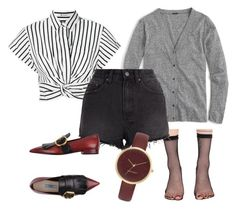 """""""Untitled #37"""" by le-crow on Polyvore featuring Leg Avenue, T By Alexander Wang, J.Crew, Ksubi, Prada and Nine West"""