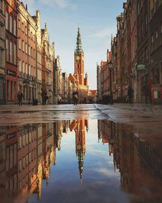 A great photo of the Old Town in Gdansk, Poland by a very talented photographer called Patryk Bieganski Places To Travel, Places To See, Travel Destinations, Places Around The World, Around The Worlds, Poland Cities, Gdansk Poland, Old Town Gdansk, Cityscape Photography
