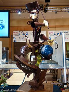 Chocolate sculpture from the 2010  World Pastry Championship