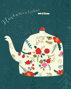Kindred Art Collective | Sara Brezzi #Art #Illustration #TeaPot #Tea #Christmas…