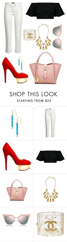 """""""Untitled #2487"""" by filipaloves ❤ liked on Polyvore featuring Kate Spade, Joseph, Charlotte Olympia, Rachel Zoe, Fendi and Chanel"""