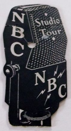 1936 NBC STUDIO TOUR, New York City, VINTAGE MICROPHONE SOUVENIR / BOOKMARK