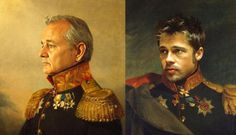 Celebrity Replaced Soldier Portraits