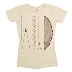 Women's WILD Tee, Vintage Wild Tree Tee, Cute Wild Life Tee at PalmerCash