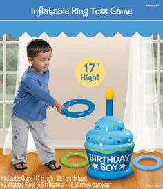 Here are some Birthday Gifts for boys. Inflatable Boy Birthday Ring Toss Game BUY NOW One Special Boy Birthday High Chair Decora. 1st Birthday Themes, Monster Birthday Parties, Birthday Gifts For Boys, Birthday Games, Boy First Birthday, Birthday Ideas, Lion Birthday, Daughter Birthday, Birthday Stuff