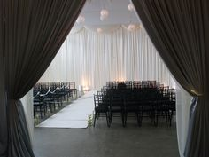 A look into the room before the ceremony.