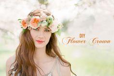 DIY Corona de flores para boda <3