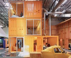 Container Office by Clive Wilkinson (Shipping Container Architecture) Container Architecture, Container Buildings, Eco Architecture, Cargo Container Homes, Container Design, Bureau Design, Office Interior Design, Office Interiors, Office Designs