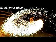Steel Wool Sparklers - http://blog.clairepeetz.com/steel-wool-sparklers/