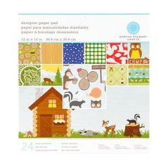 Woodland paper from Martha stewart