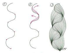 Zentangle pattern tutorials, lists of patterns.overall wonderful zentangle guide! Zentangle Drawings, Doodles Zentangles, Doodle Drawings, Doodle Art, How To Zentangle, Tangle Doodle, Tangle Art, Doodle Patterns, Zentangle Patterns